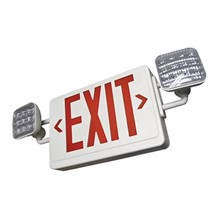 LED Dual Head Emergency/Exit Light Combo SSLSIM-SCLD2RW