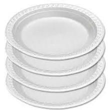 White, Laminated Foam Plates SSJDRT-LAMINATED-FOAM