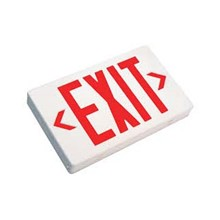 LED Exit Sign Battery Back-up, White w/Red Lettering (Each) SSLEXL1-10-UNV-WH-R-2